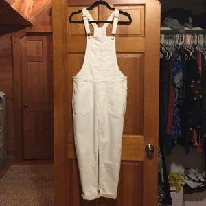 Old Navy white pant overalls